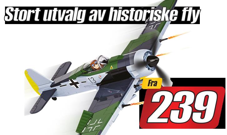 Stort utvalg av historiske fly byggesett