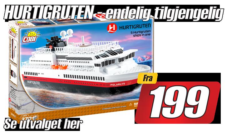 Cobi Hurtigrute byggesett i nettbutikk nå
